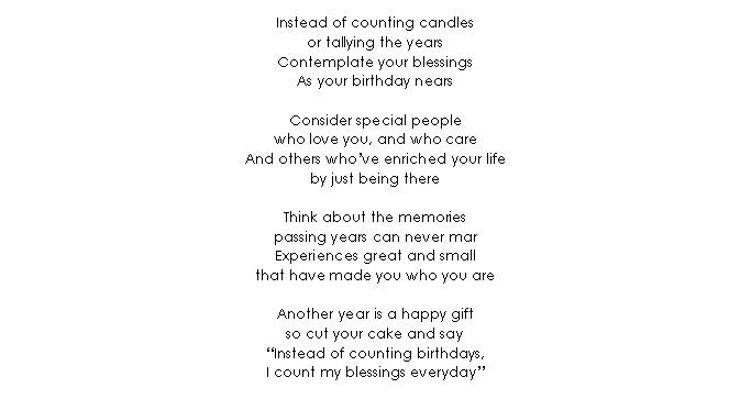 Verse 09 Birthday