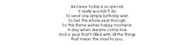 Verse 10 Birthday